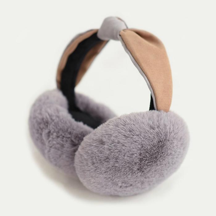 유라이프 토끼털 귀마개 겨울 털귀마개