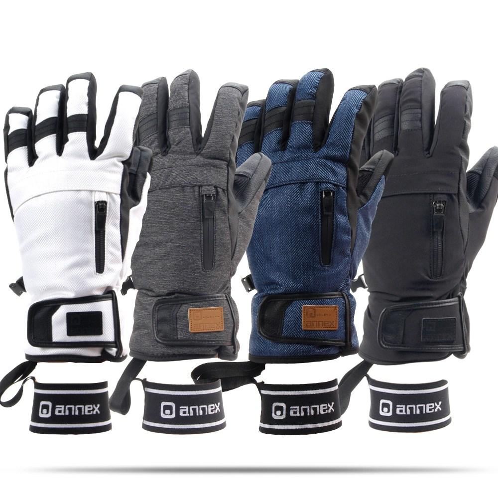 아넥스 7809 스키 오지장갑 스키장갑 보드장갑 방한장갑, 블랙