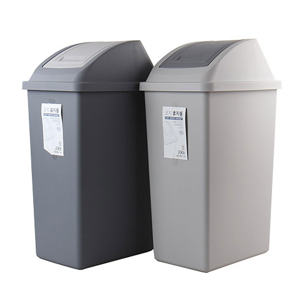 코지 종량제 슬림 100L봉투사용가능 분리수거함 대형쓰레기통, 다크그레이