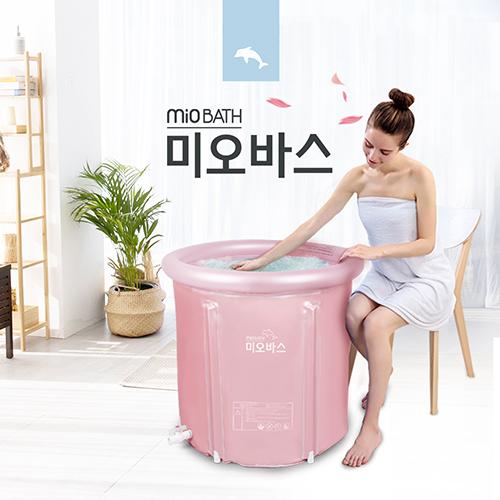 미오바스 전신 반신 이동식 성인 접이식욕조, 로즈골드/ S(65x70)cm, 1개