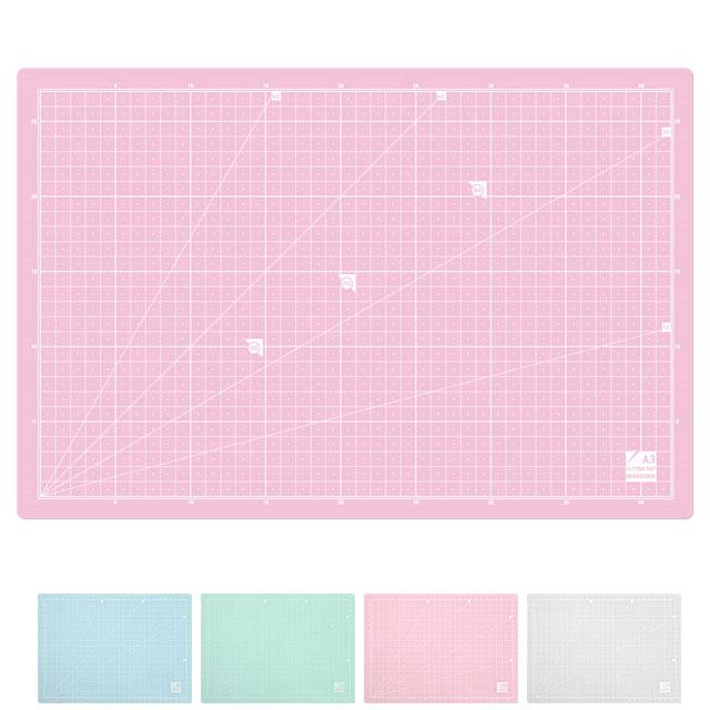 [윈스타] 반투명 커팅매트 A3 (450x300mm) - 칼판 컷팅매트 데스크매트 -책상매트, 핑크