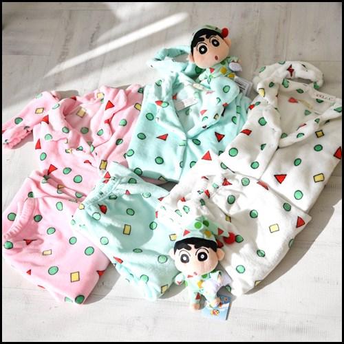세컨핑크 겨울 짱구에디션 수면 안대셋트 잠옷 쥬니어(S)~성인남성(XL) 까지