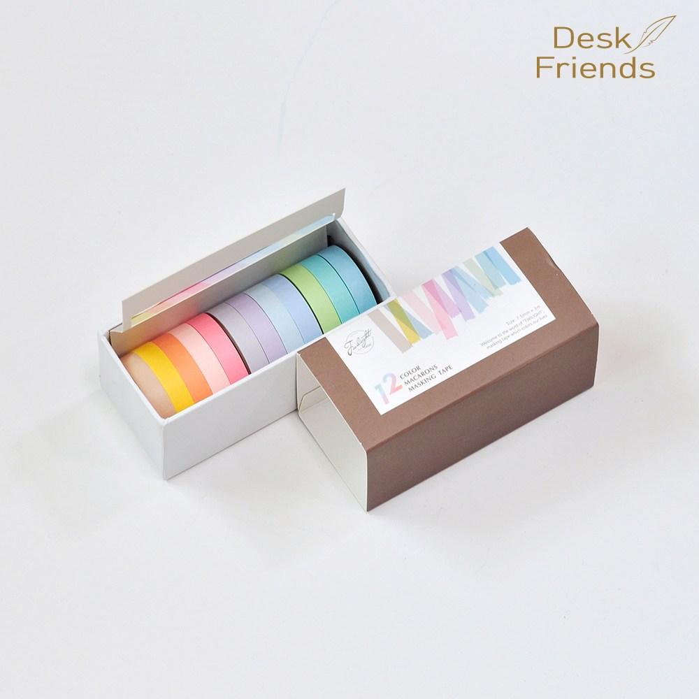 12색 파스텔 마스킹테이프 종이테이프 얇은테이프, 12. 12색 파스텔 마스킹테이프, 1세트