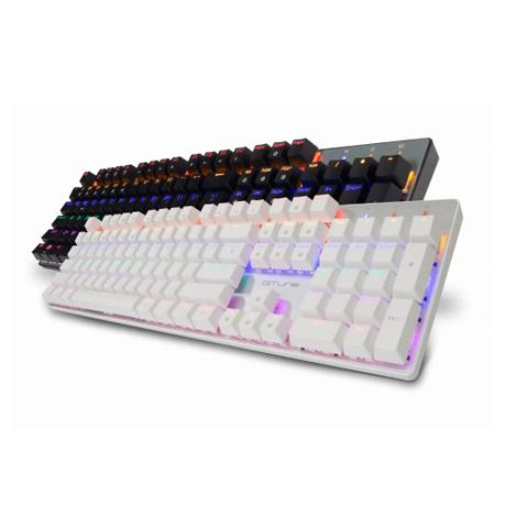 한성컴퓨터 GTune MKF30S Rainbow 기계식키보드, 블랙 적축, MKF30S 레인보우