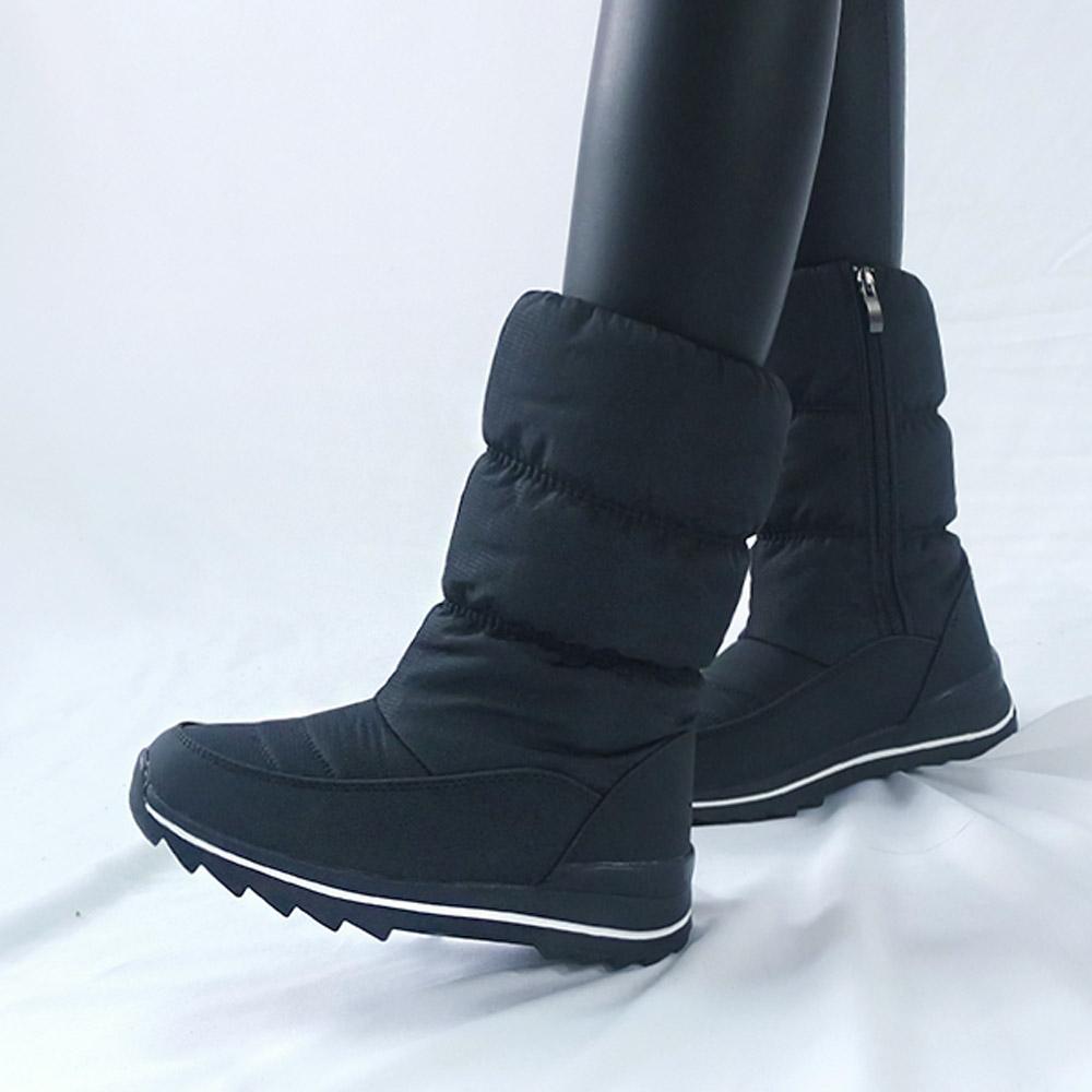 식스나인 카이 여성 패딩 털 부츠 방수 방한화 여자 겨울 신발