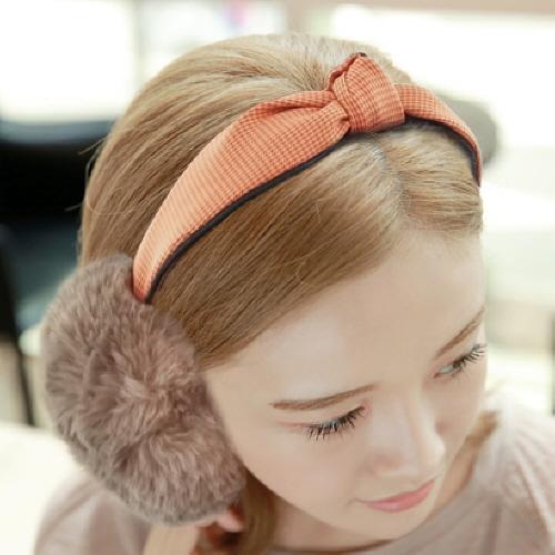 캐시미어 털 귀마개 원 / 귀도리 /겨울귀마개 /밍크귀마개
