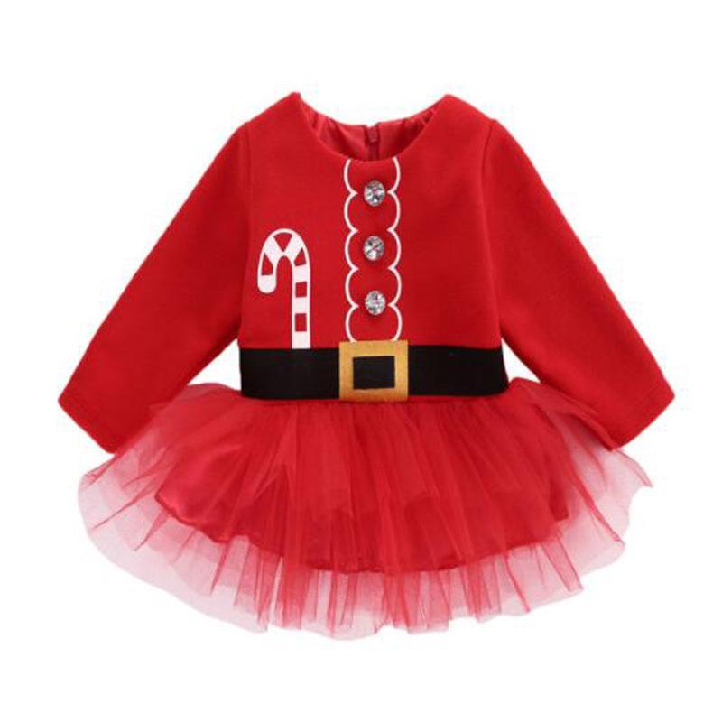 마마고 여아 러블리 메리 산타 원피스 크리스마스 의상 파티복