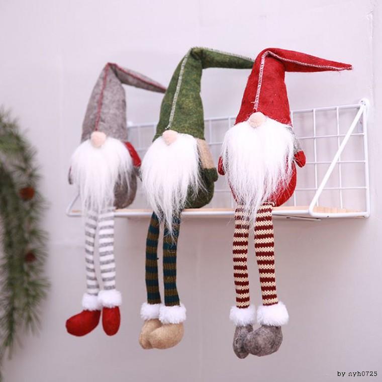 크리스마스 장식 롱다리 난쟁이 산타인형, 그린