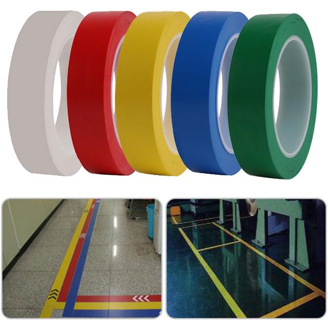 [동화] 바닥라인테이프 25mm*2개 - 색상선택 / 색테이프 칼라테이프, 빨강