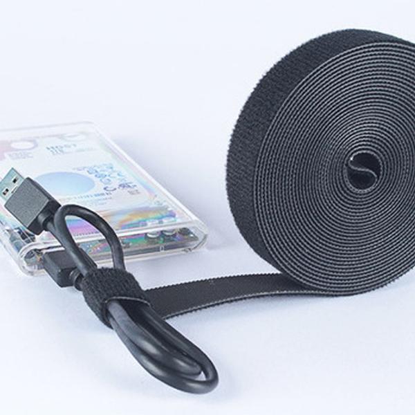 DSM 벨크로 케이블타이 전선정리 930cm 블랙, 1개