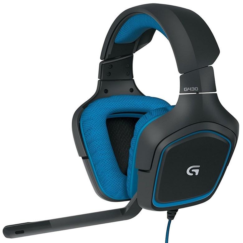 로지텍 서라운드 사운드 게이밍 헤드셋, G430, 혼합 색상