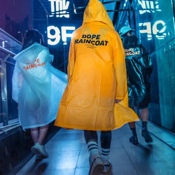 갓샵 정품 DOPE 디자인 레인코트 3color 여성우비 남자우의 패션판초비옷