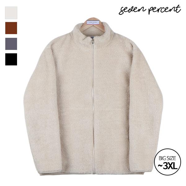 [세븐퍼센트] 남여공용 오버핏 후리스 양털 집업 자켓