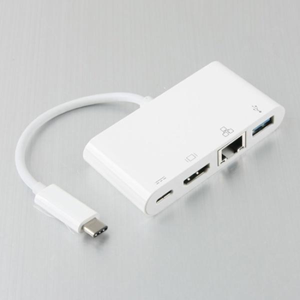 컴스 USB Type-C타입 to HDMI 컨버터 젠더/오디오 지원/영상 / 음성 컨버터/USB 3.1 C타입 에서 HDMI 영상 신호로 변환 출력 변환기/USB 3.1 아답터/417938, 417938