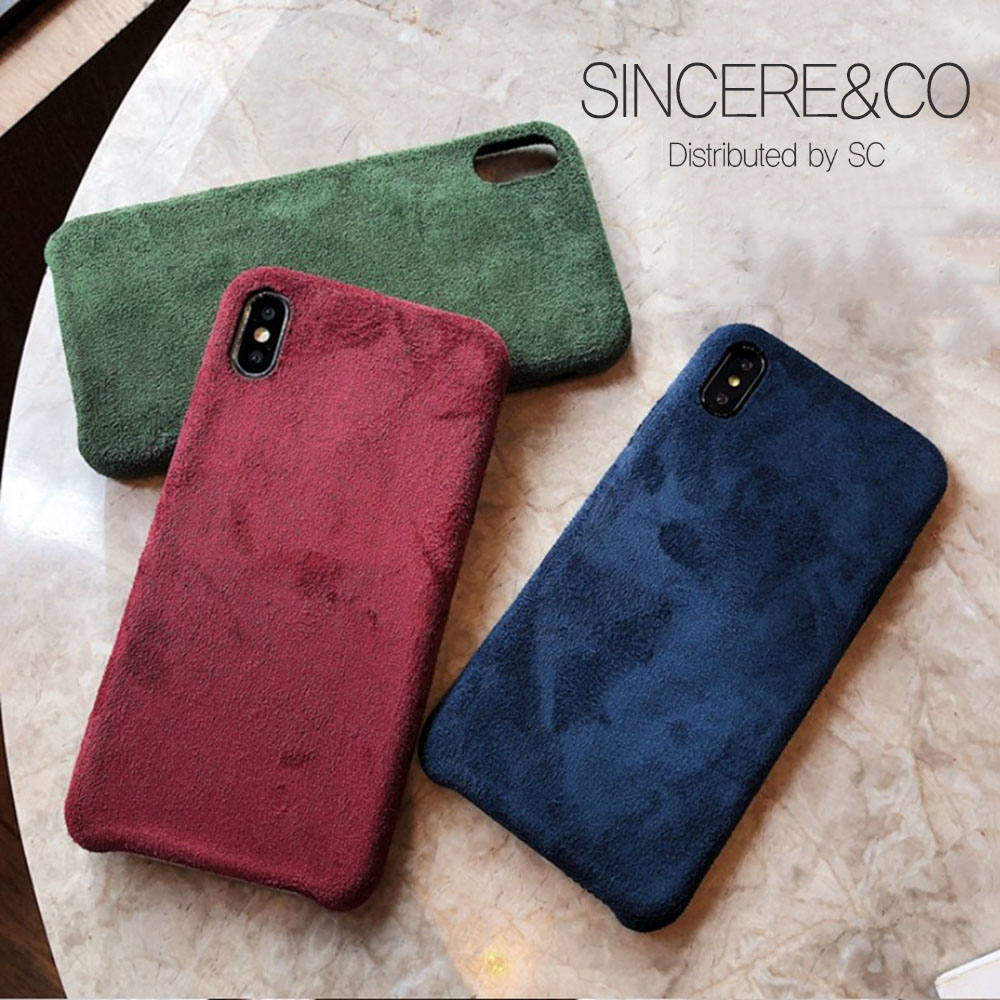 신서엔코 아이폰8케이스 아이폰8플러스케이스 8+케이스-빈티지 컬러 스웨이드 케이스 휴대폰