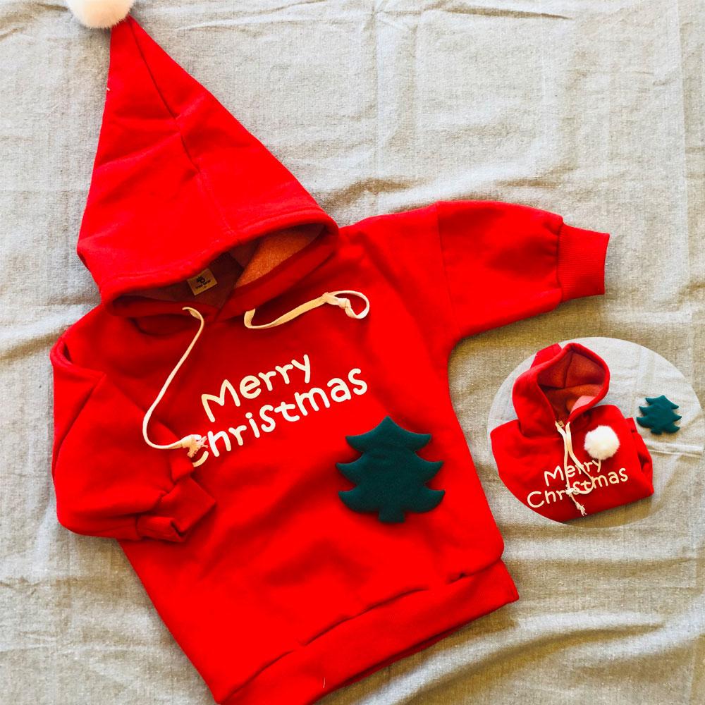 트리베어 유아동 크리스마스 후드맨투맨 (1-9세)+트리악세사리 패키지