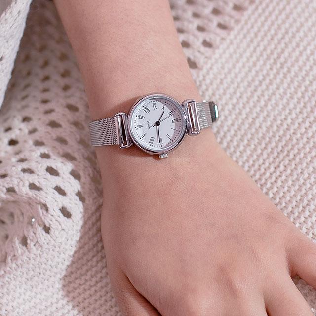 저비샵 여자 여성 학생 손목 시계 메탈 CU812