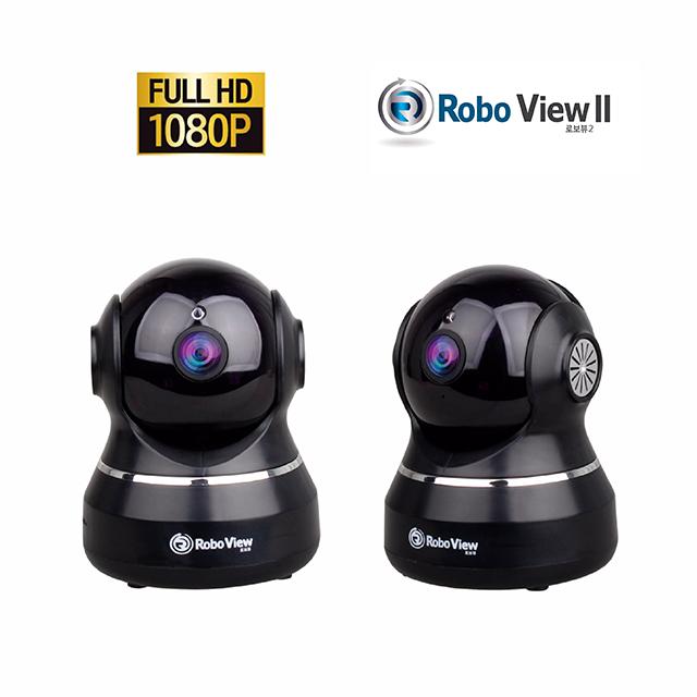 로보뷰2 IP카메라 CCTV 홈캠 해킹방지 1080P 풀HD 200만화소 실내용, GI-ROBO2 / 블랙