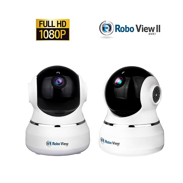 로보뷰2 IP카메라 CCTV 홈캠 해킹방지 1080P 풀HD 200만화소 실내용, GI-ROBO2 / 화이트