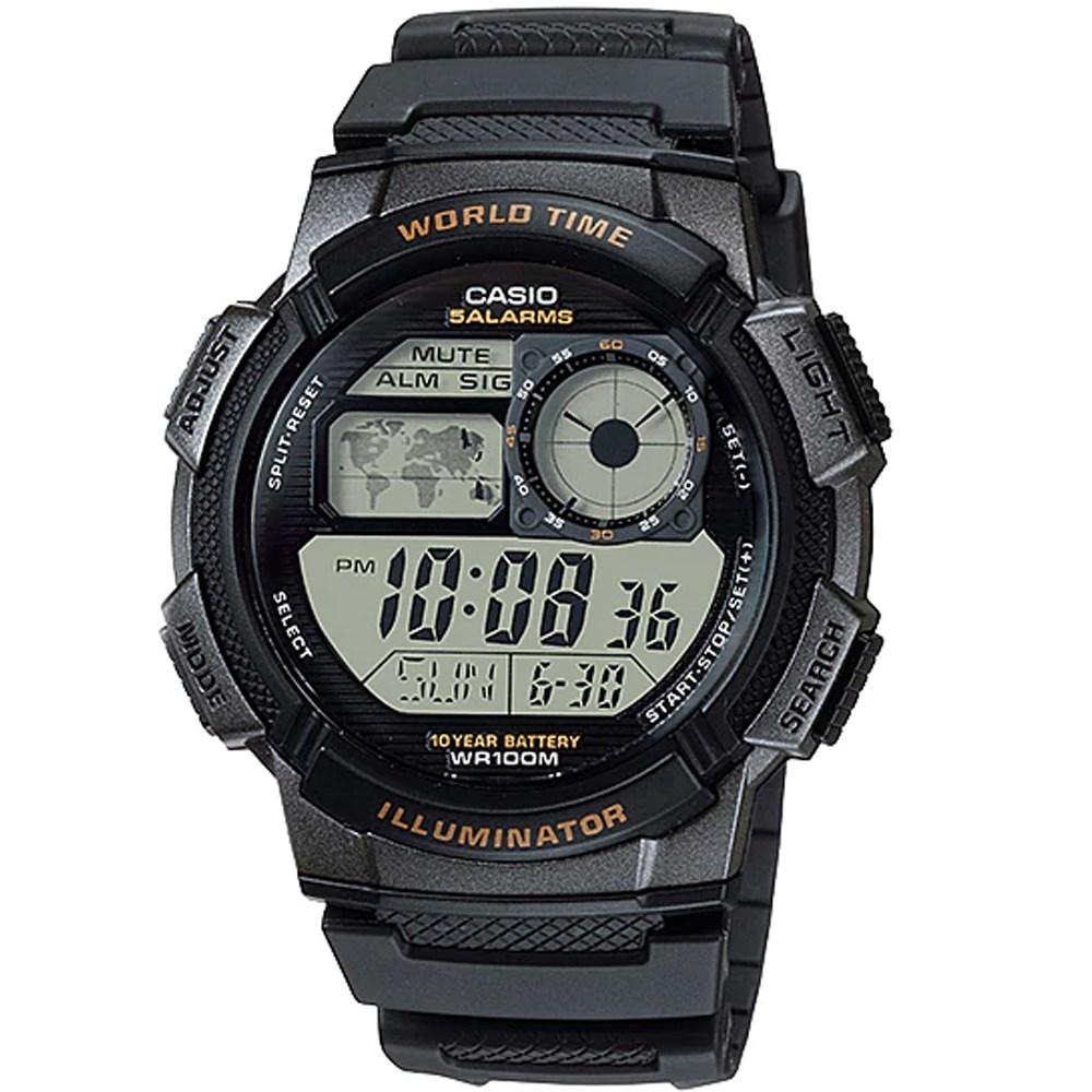 카시오 정품 AE-1000W-1A 전자손목시계 남성 여성 스포츠패션 방수 학생