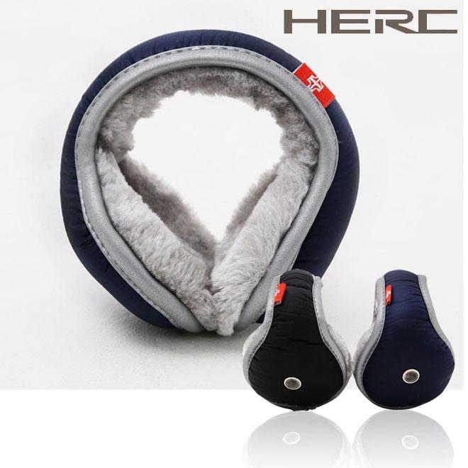 HERC 털 귀마개 고급형/귀도리/방한귀마개/털귀마개, 블랙
