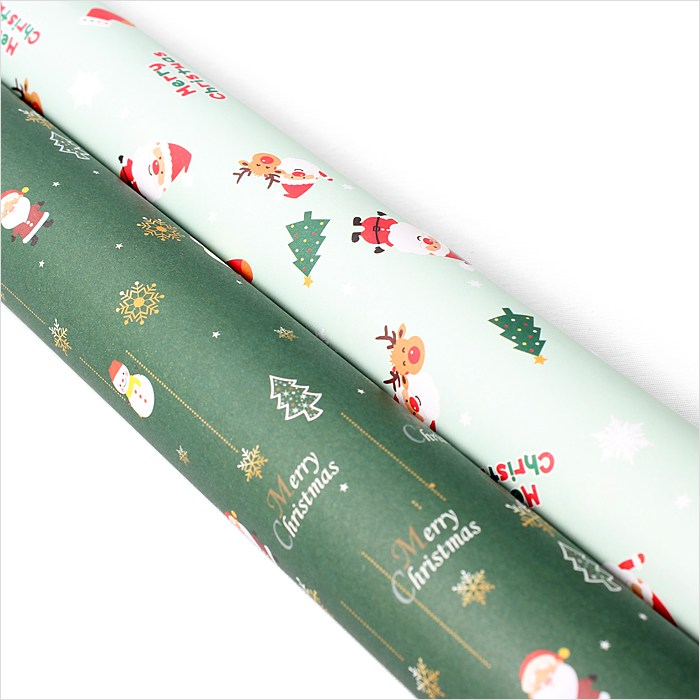피크닉하우스 크리스마스포장지 산타 루돌프 선물포장지, 산타포장지2종혼합 10장, 1개