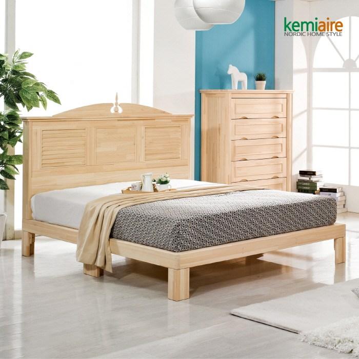 케미에르 프리미엄 편백나무원목 침대프레임 CMD-101F