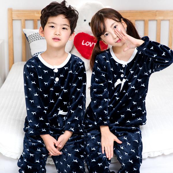 이라인 꼬마강아지 아동 수면잠옷(주니어잠옷)