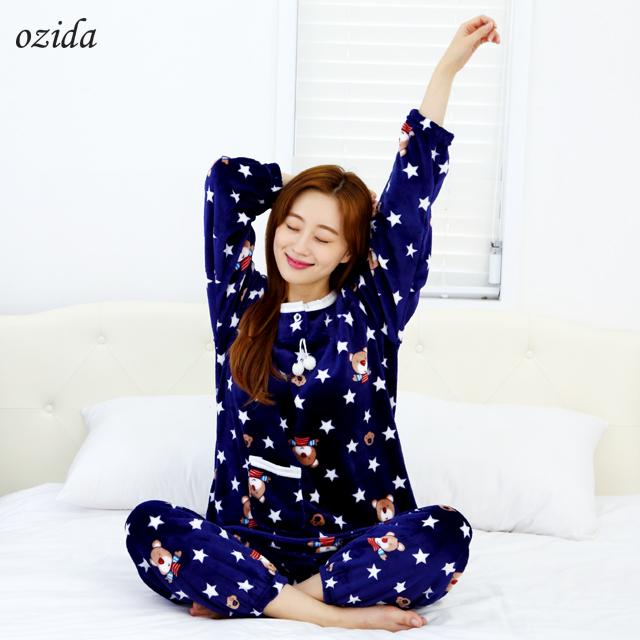 오지다 수면 잠옷 세트 매일입게되는 마법밍크 수면잠옷 헤어밴드증정