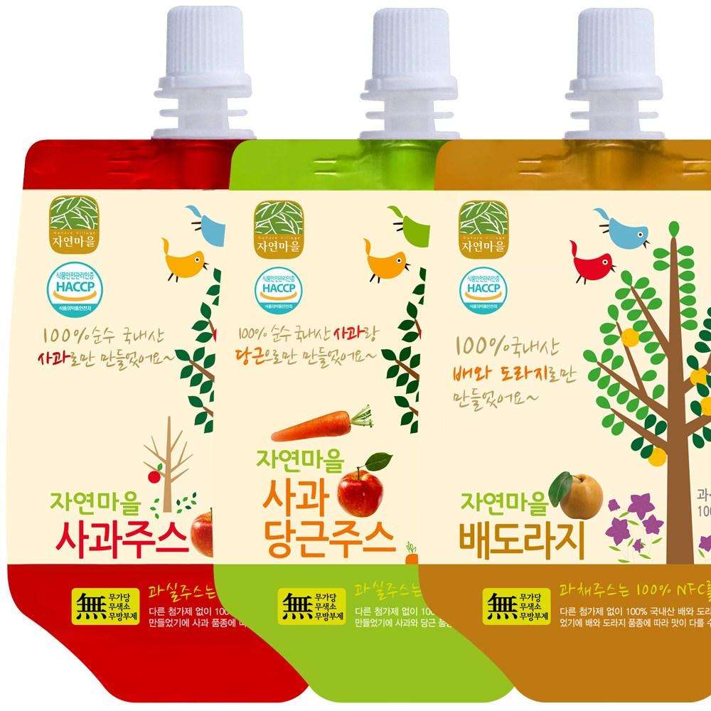 자연마을 착즙주스 30팩 아기배도라지즙(사과주스 사과당근 배도라지)