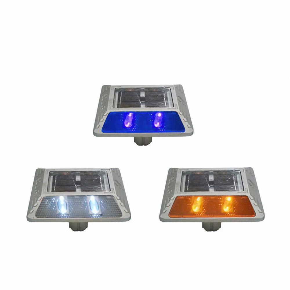 산업용 공업용 도로안전 필수품 다양한 LED 색상 쏠라 도로표지병 공구 관리 LED태양광 쏠라바닥등 태양광바닥등 매립등 태양광도로표지병, 백색