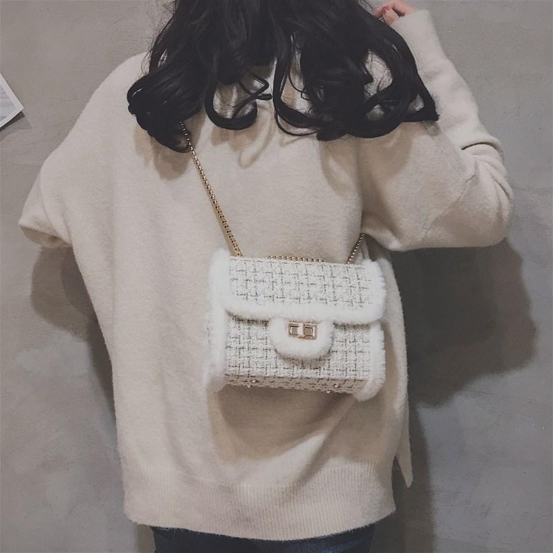 [스텔라] 여성겨울가방 귀여운 퍼가방 털가방 숄더백 크로스백 클러치백 패션가방Q12