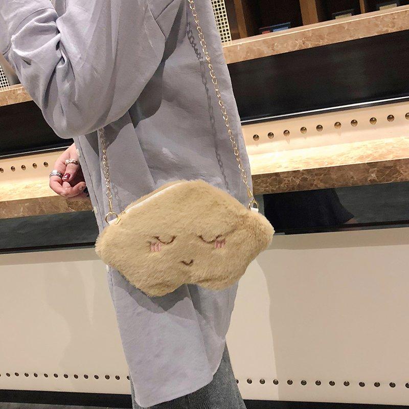 [스텔라] 여성겨울가방 귀여운 퍼가방 털가방 숄더백 크로스백 클러치백 패션가방Q03