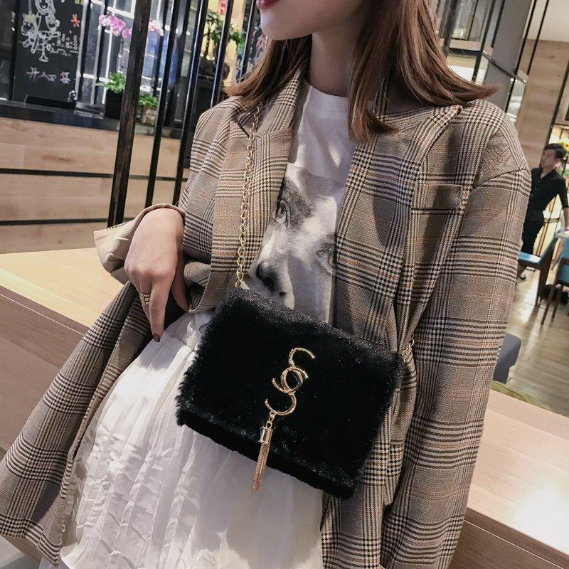 [스텔라] 여성겨울가방 귀여운 퍼가방 털가방 숄더백 크로스백 클러치백 패션가방Q15