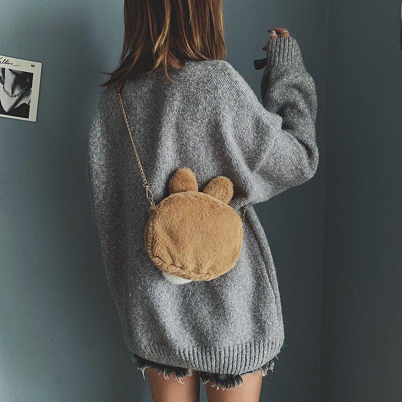 [스텔라] 여성겨울가방 귀여운 퍼가방 털가방 숄더백 크로스백 클러치백 패션가방Q07