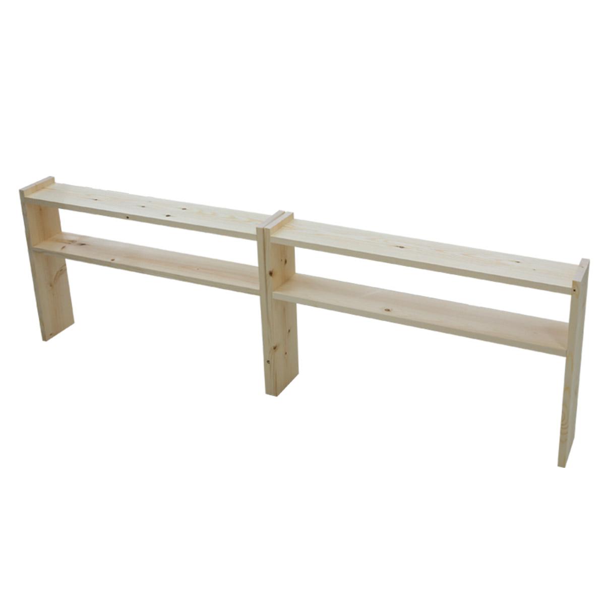 다니엘우드 침대사이드테이블 원목 틈새선반 다용도 장식장 진열대 사이드테이블, 다용도 틈새선반(2개)