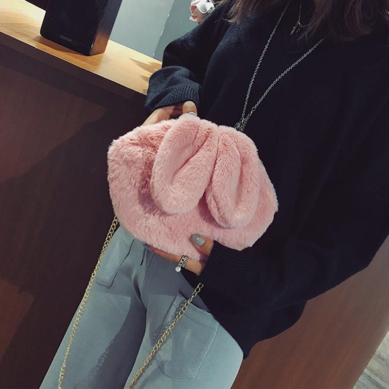 [스텔라] 여성겨울가방 귀여운 퍼가방 털가방 숄더백 크로스백 클러치백 패션가방Q08