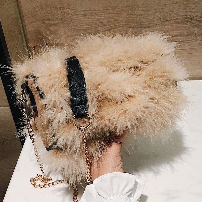 [스텔라] 여성겨울가방 귀여운 퍼가방 털가방 숄더백 크로스백 클러치백 패션가방Q13