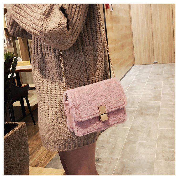 [스텔라] 여성겨울가방 귀여운 퍼가방 털가방 숄더백 크로스백 클러치백 패션가방Q09