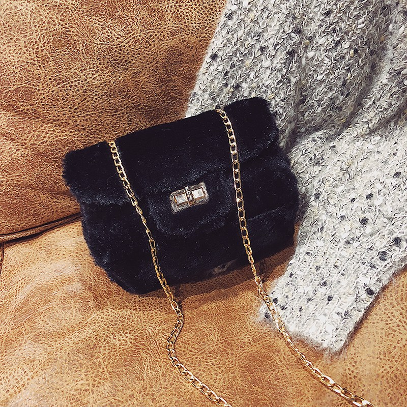 [스텔라] 여성겨울가방 귀여운 퍼가방 털가방 숄더백 크로스백 클러치백 패션가방Q10