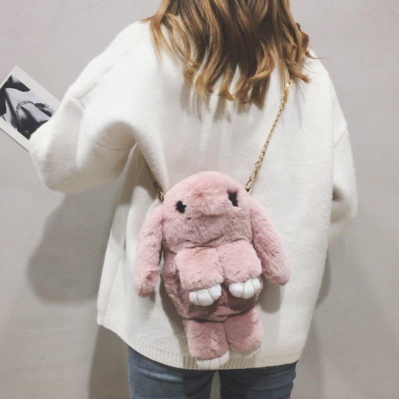[스텔라] 여성겨울가방 귀여운 퍼가방 털가방 숄더백 크로스백 클러치백 패션가방Q04