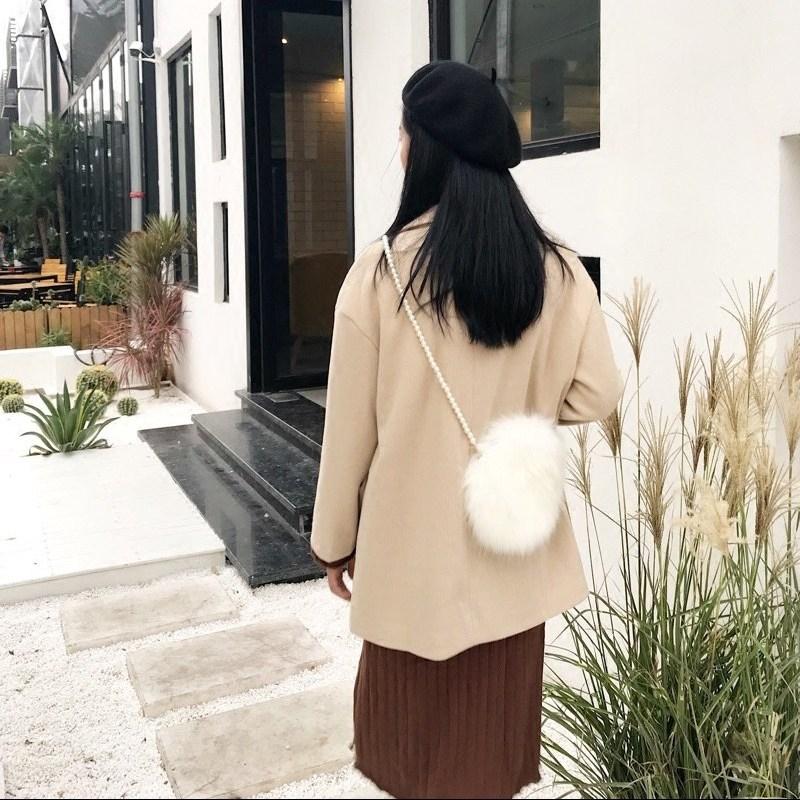 [스텔라] 여성겨울가방 귀여운 퍼가방 털가방 숄더백 크로스백 클러치백 패션가방Q19