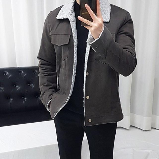 로니케이 포켓 피치 양털 면 자켓 (3color)