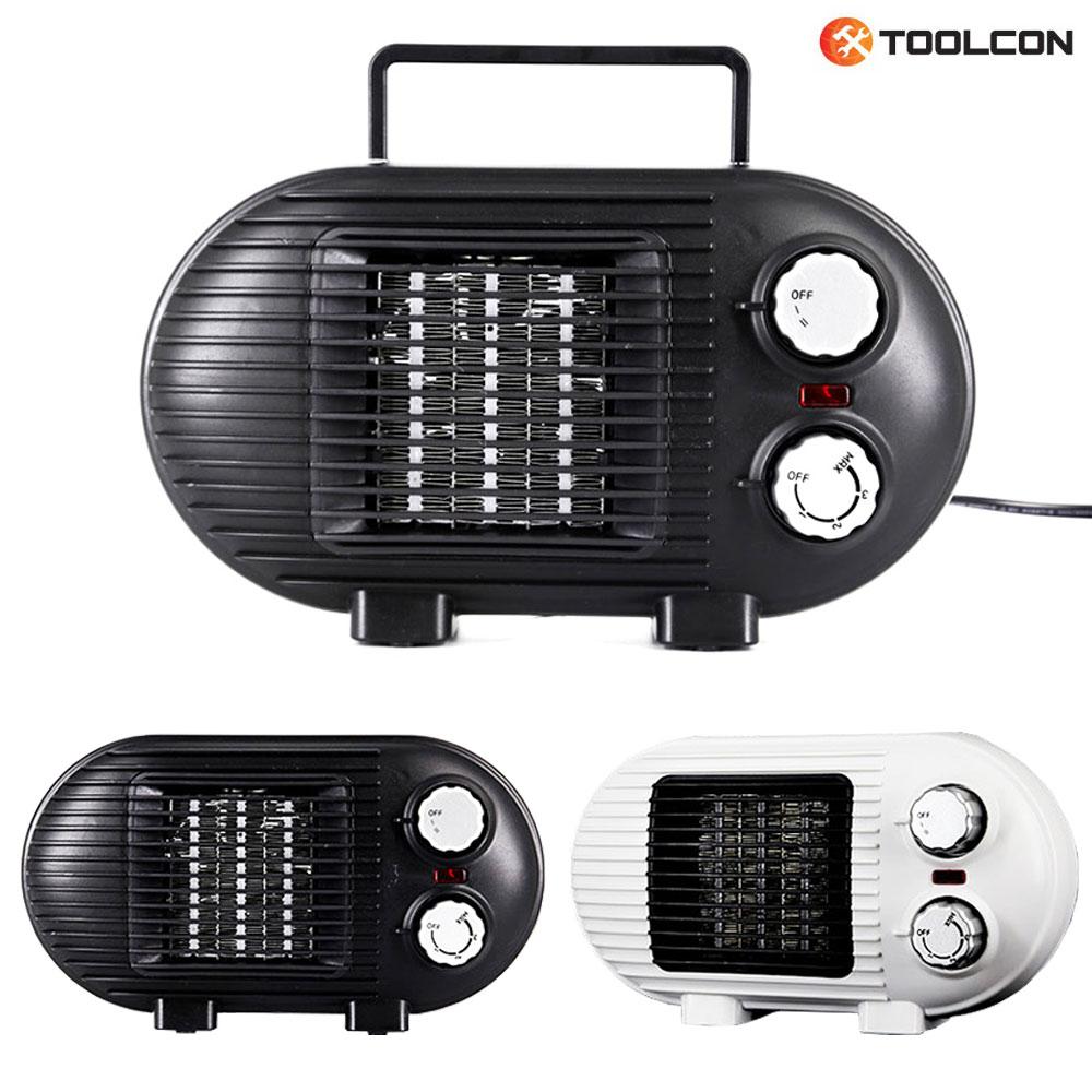 PTC 미니팬히터 미니온풍기 800/미니난로/미니히터, TP-800D 화이트