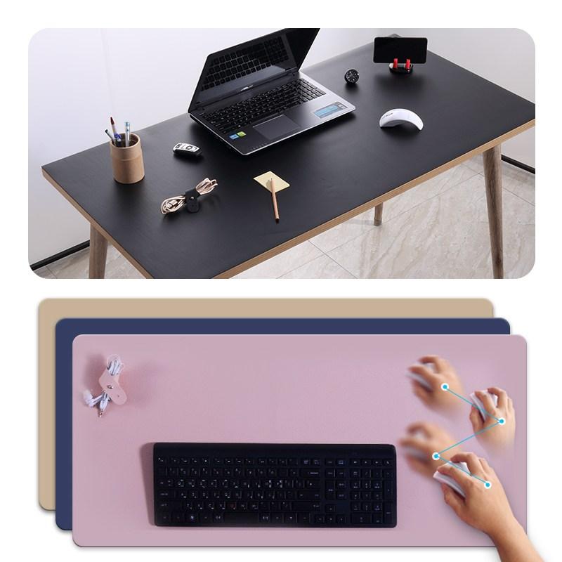 다니카 인조가죽 데스크테리어 책상 키보드 대형장패드 데스크매트(1200x600), sb-400 BLUE