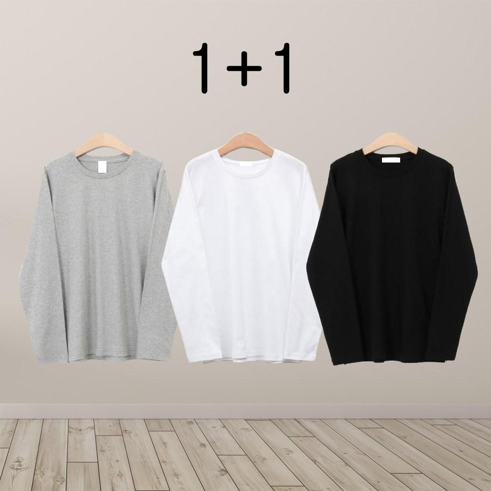 로파제 1+1 남자무지긴팔티셔츠 긴팔 티셔츠