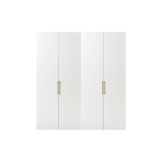 한샘 바이엘 긴옷장 세트 200cm(높이216cm) 화이트 수납형, 단일상품