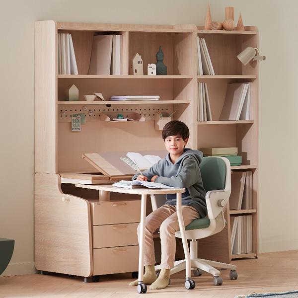 [SET] 일룸 링키 스마트책상 퍼펙트세트+시디즈 링고의자, 아이보리:라벤더 블루