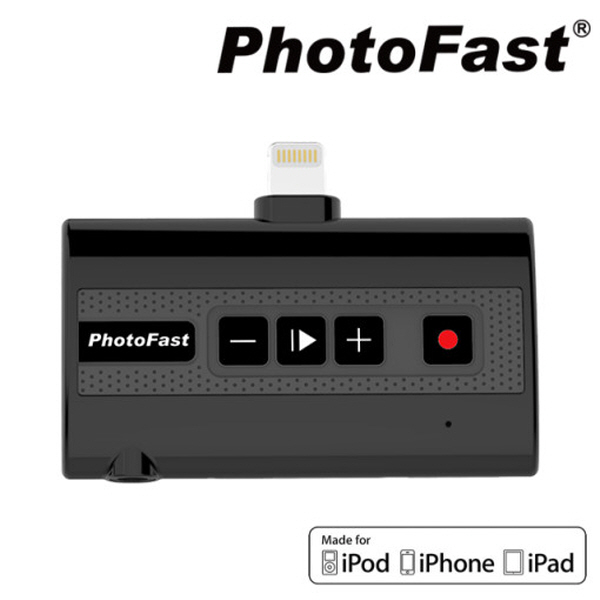 포토패스트 PhotoFast 콜레코더 Callrecorder 아이폰 통화녹음기, 블랙, CALLRECX