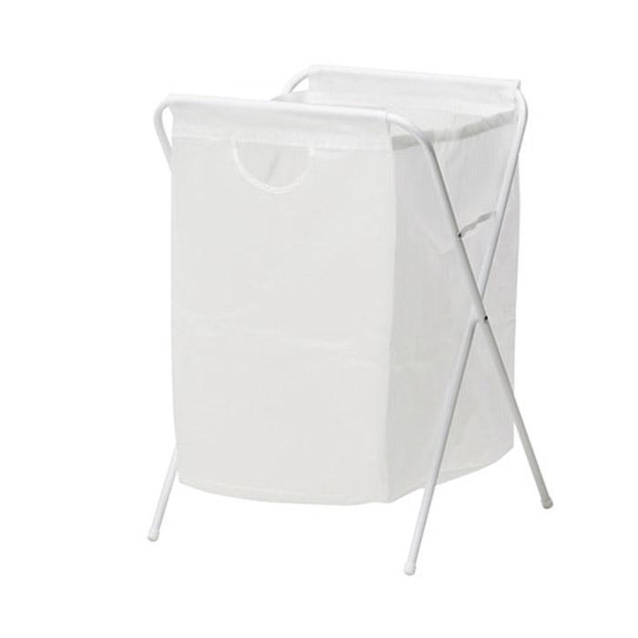 이케아 JALL 옐 빨래주머니+스탠드/빨래보관함/분리수거함/세탁용품, 화이트_101.718.26